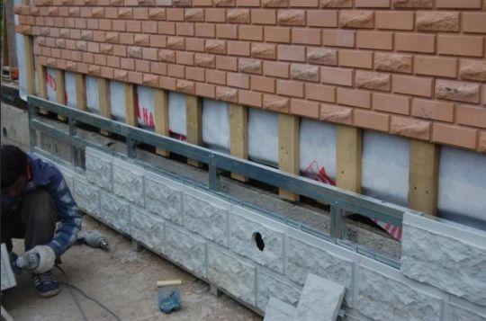 Фасадная плитка, укладка