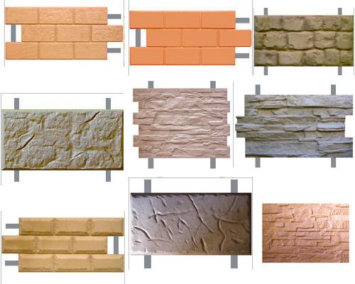 Варианты плитки фасадной