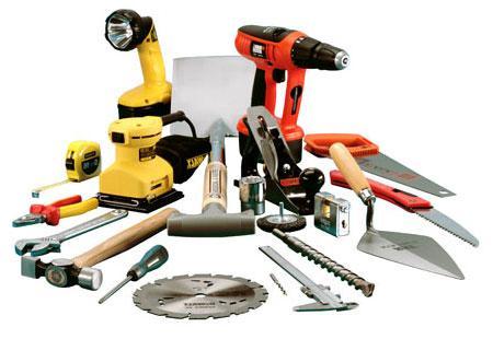 Инструменты для фасадных работ.