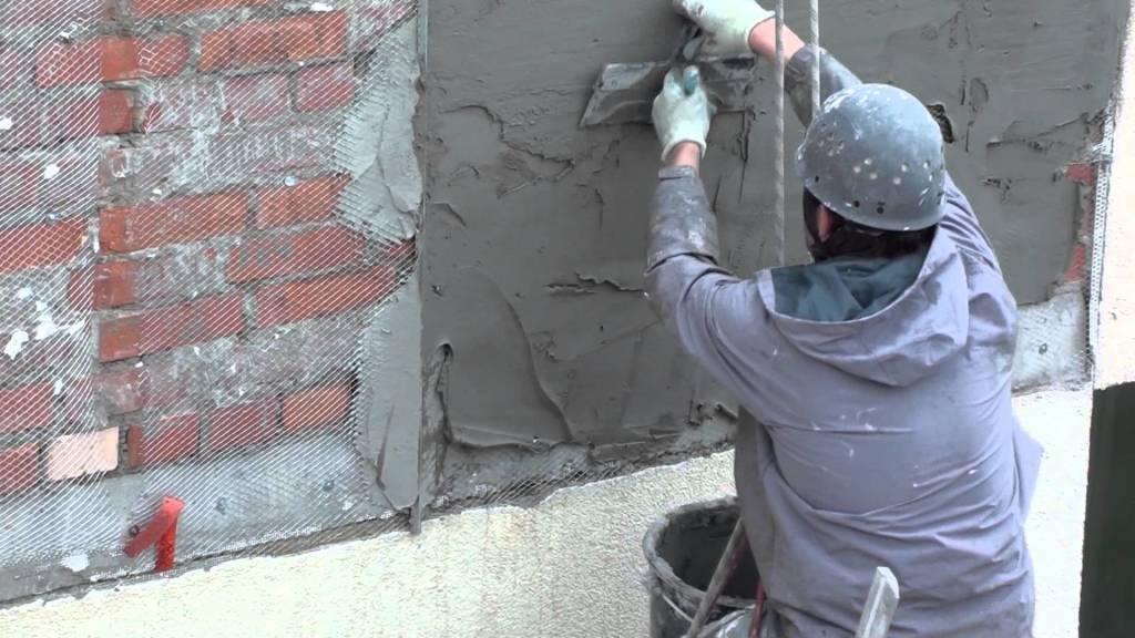 Наносим штукатурку на фасад