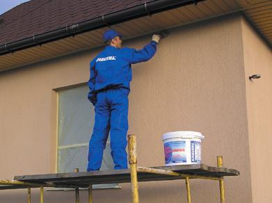 нанесение фасадной краски