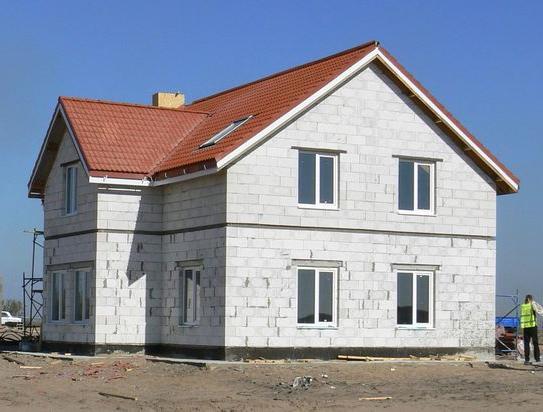 Фасад газобетонного дома
