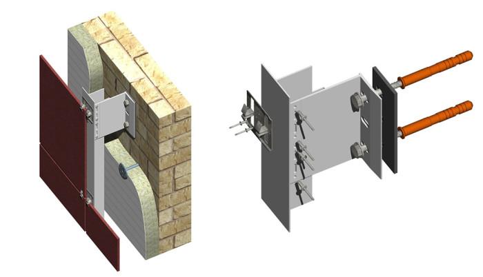 Открытый тип крепления вентилируемых фасадов