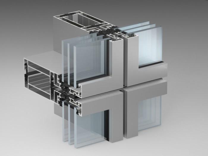 Профиль для стеклянного фасада