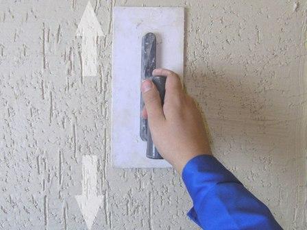 Процесс нанесения короеда