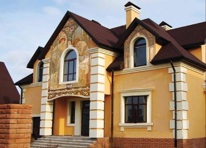 фреска на фасаде