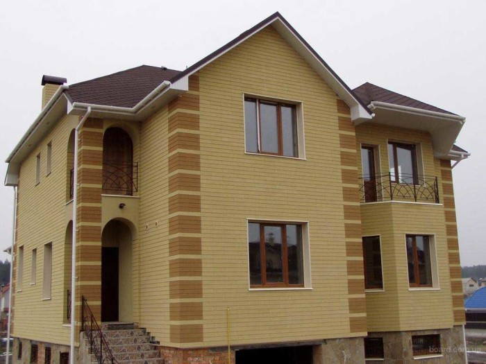 мокрые фасады на примере дома