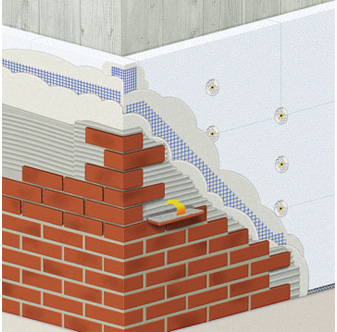 Монтаж плитки к фасаду здания