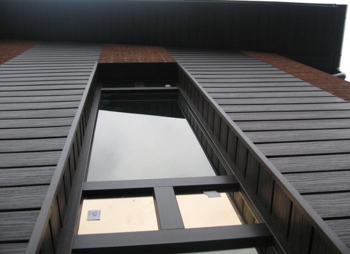 Фасад из ДПК