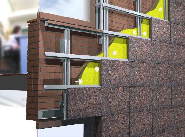 вентилируемый фасад дома