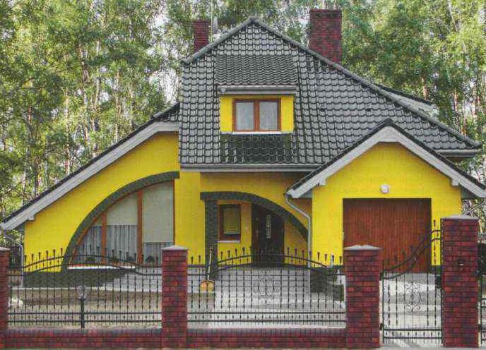 Окрашенный фасад
