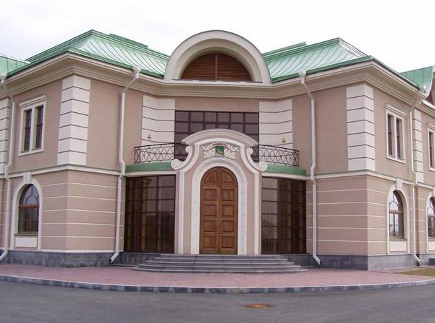Фасад, окрашенный перхлорвиниловой краской