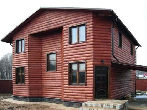 Пример дома с отделкой блок хаус