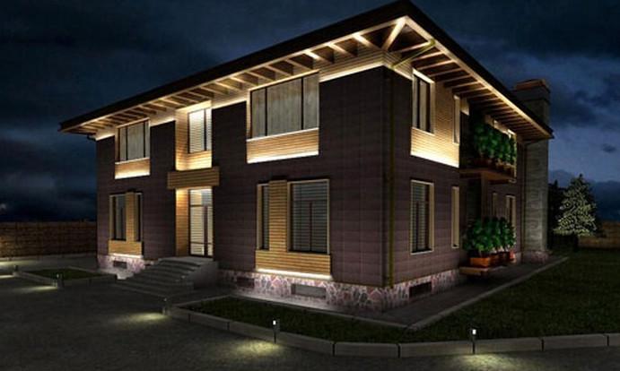 Проект подсветки загородного дома