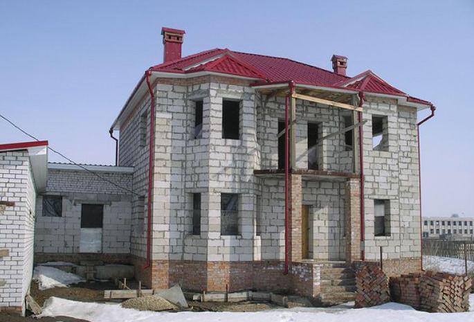 Здание из пеноблоков