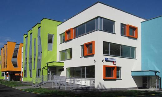 Окрашенные здания