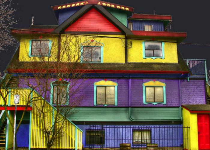 Окраска здания