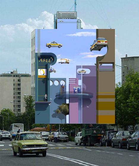 Рисунок на здании