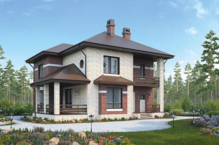 Дом с отделкой берг