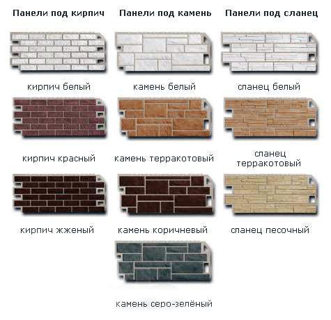 Фактурная гамма панелей