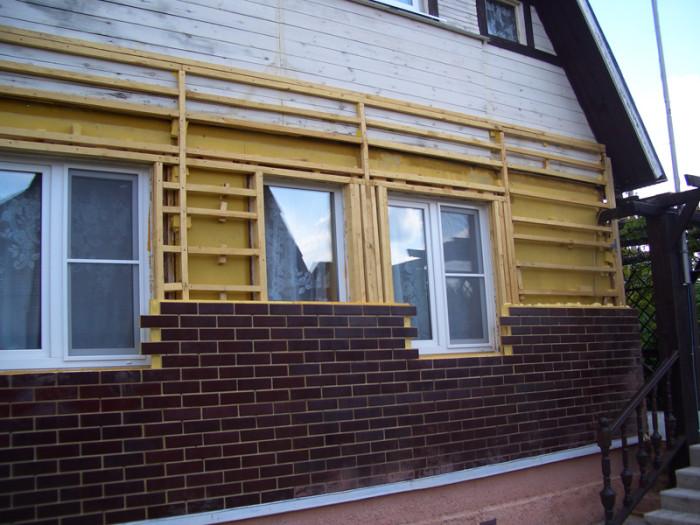 Термопанели на фасаде дома