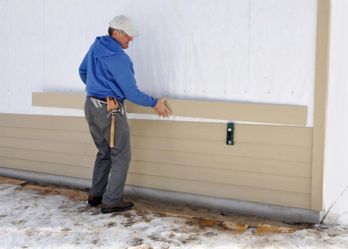 Для сравнения теплоизоляция стен