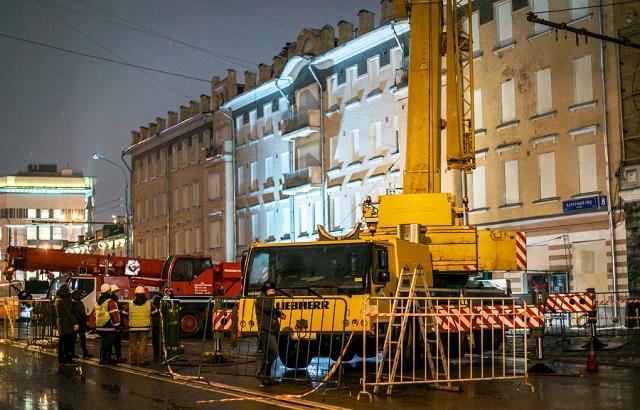 В Москве произошло обрушение памятника